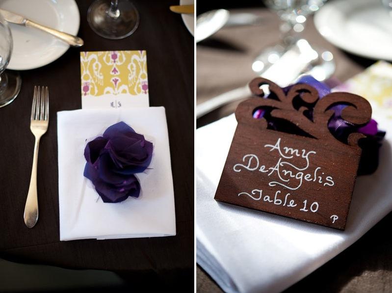 deep purple wedding favors