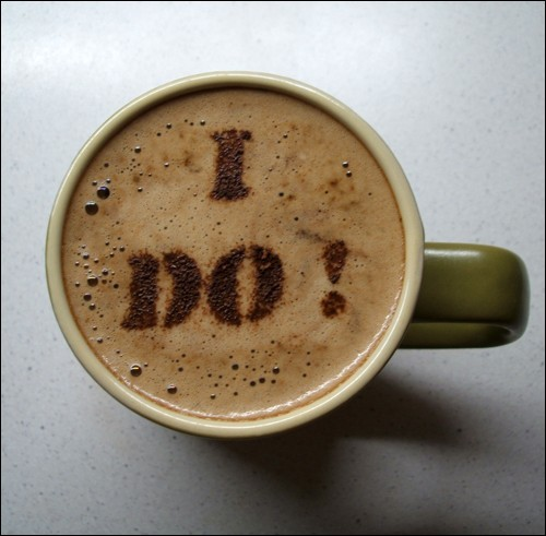 I do coffee foam