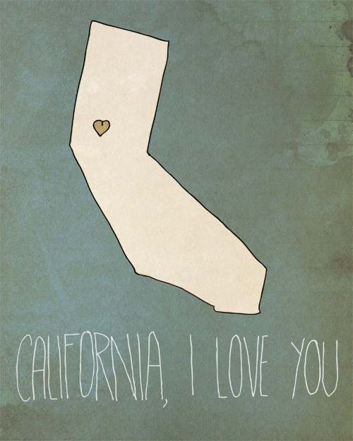 love california illustration