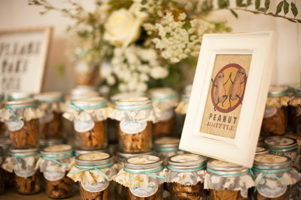 peanut brittle favors