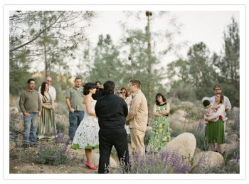 Bride and groom elope in California forest