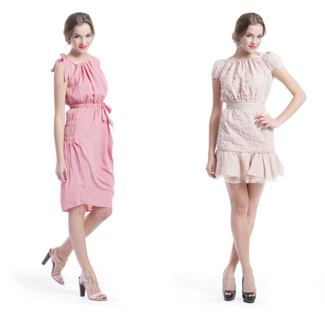 blush pink rent the runway bridesmaid dresses