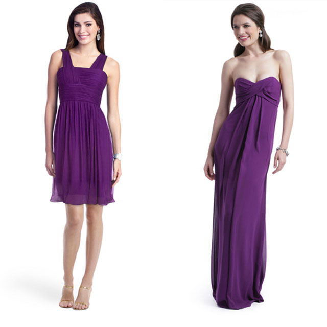 purple rent the runway bridesmaids gowns