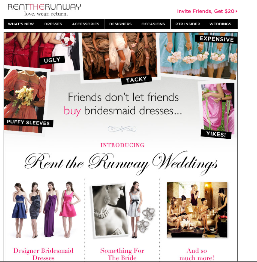 Rent the Runway Screen shot