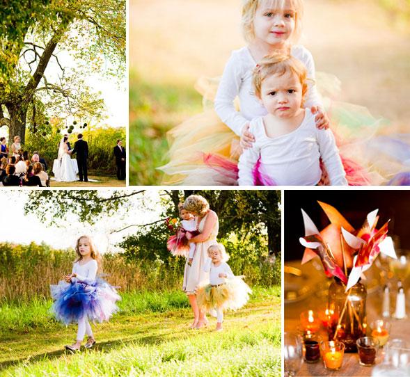 Children in tutus and pinwheels