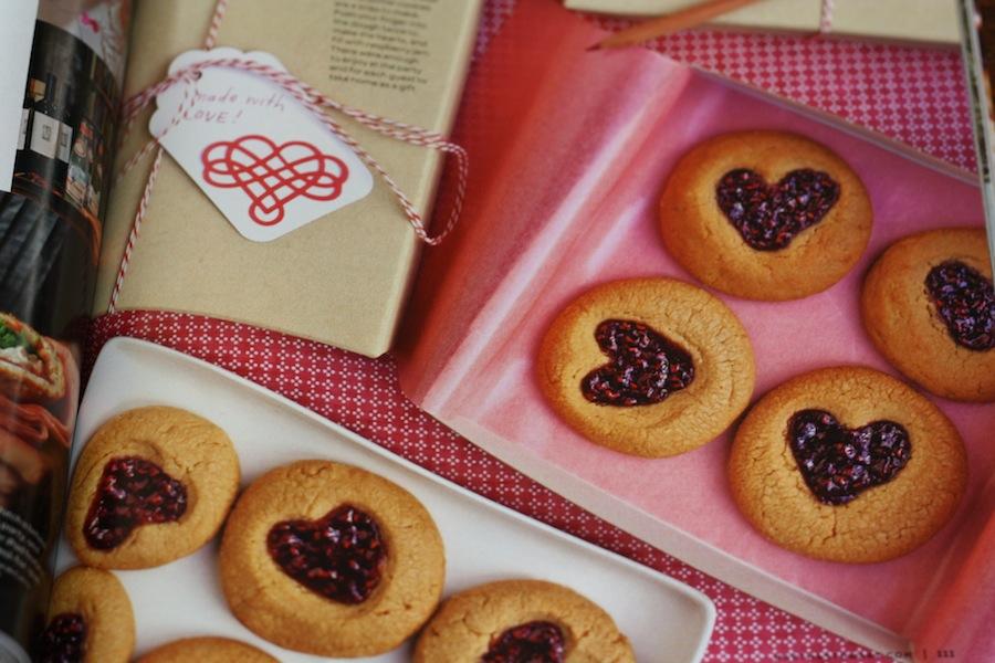 heart thumb cookies