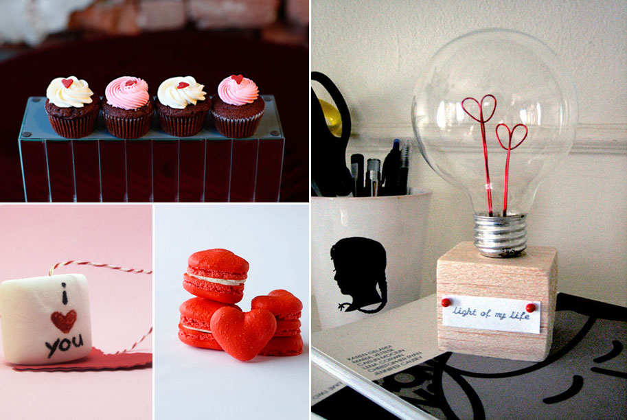 macaroons cupcakes and lightbulb