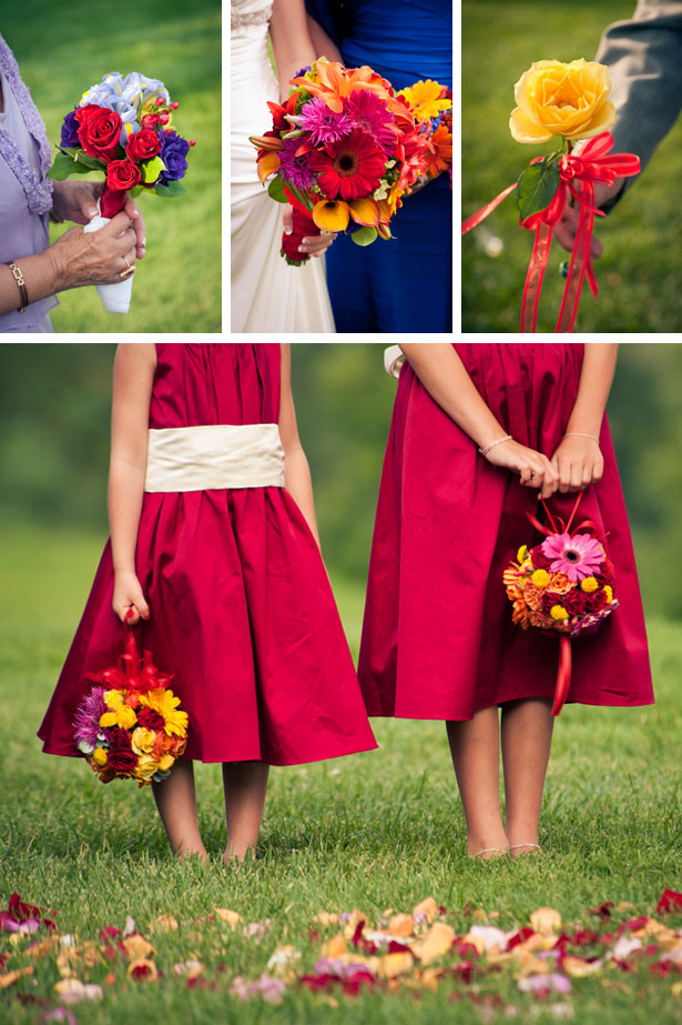 bridal bouquets and flower girls