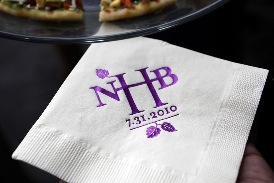 purple monogrammed Napkin