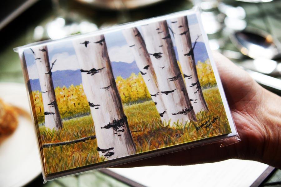birch bark invitation