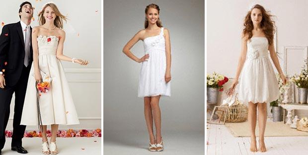 fun short bridal gowns