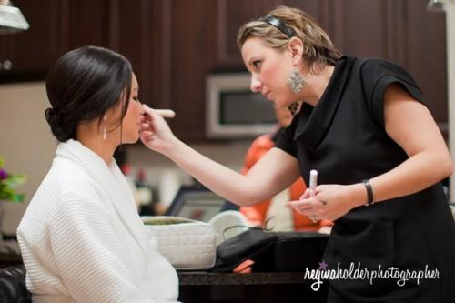 asheville makeup artist Wendy Ballance at work