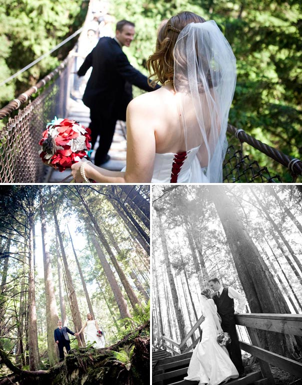 BC Bridal Portraits in the Woods
