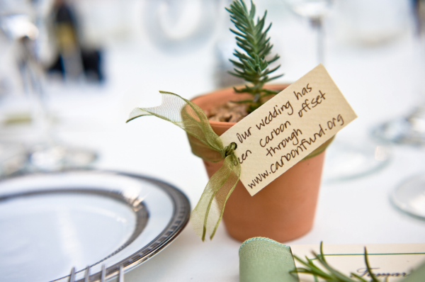 green wedding favor