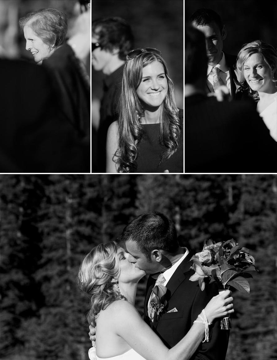 Black and white Ceremony Details