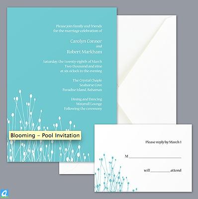turquoise wedding invitation by Davids Bridal