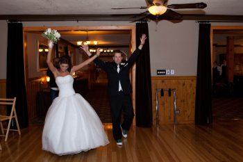 bride and groom at a green sierra wedding
