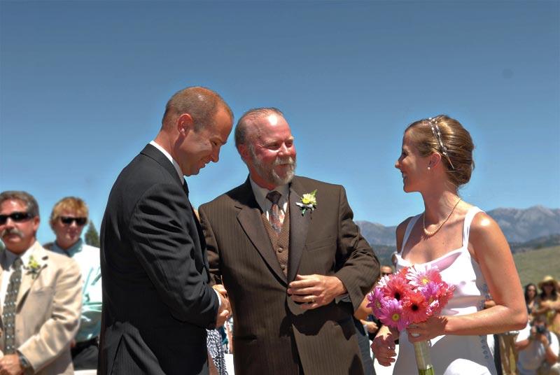 mammoth mountain wedding ceremony