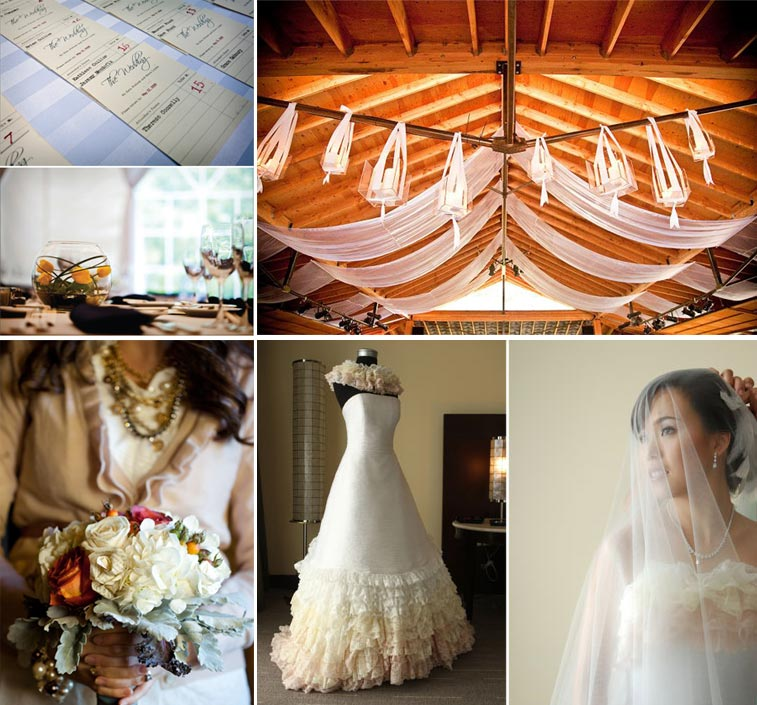 library wedding inspiration board