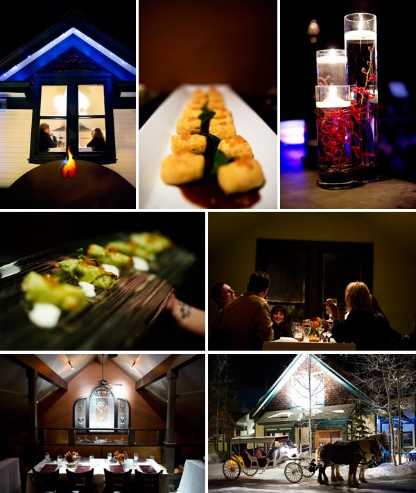 winter wedding reception in Breckenridge