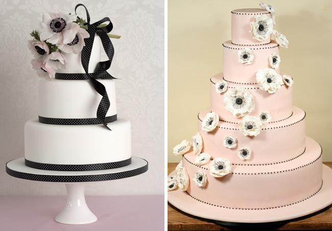 anemone wedding cakes
