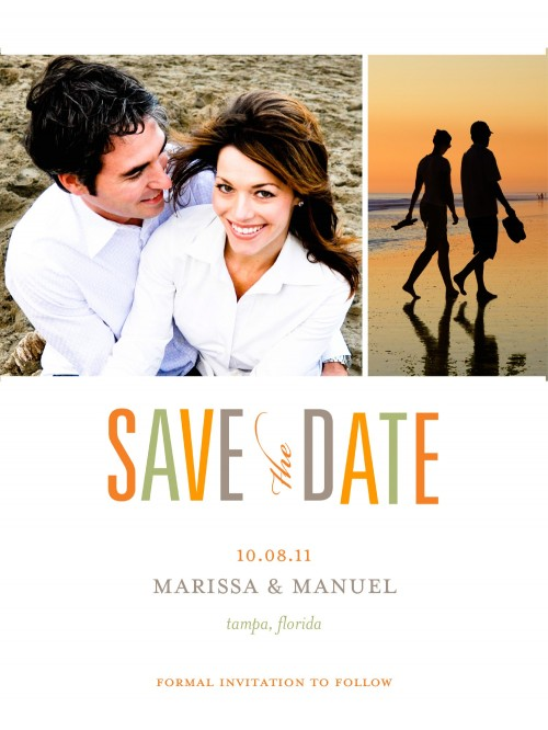 Custom Save the Date cards from Shutter Fly