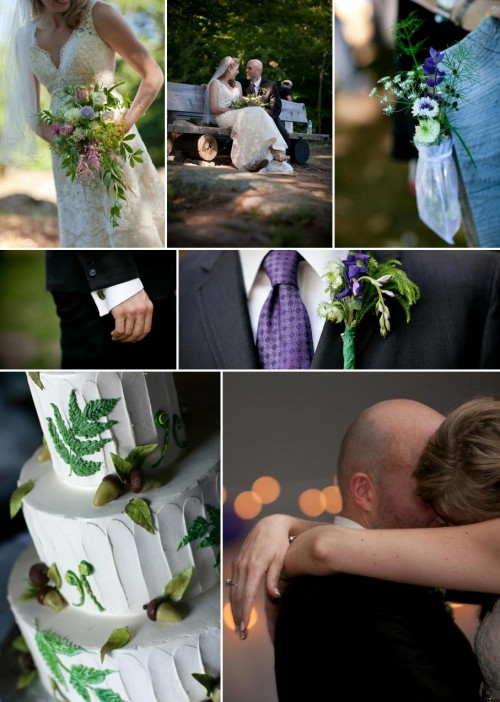 Wedding details for wildflower new hampshire wedding near Andover