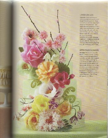 Paper Flower wedding Cake in the 2011 DIY Issue of Martha Stewart Weddings