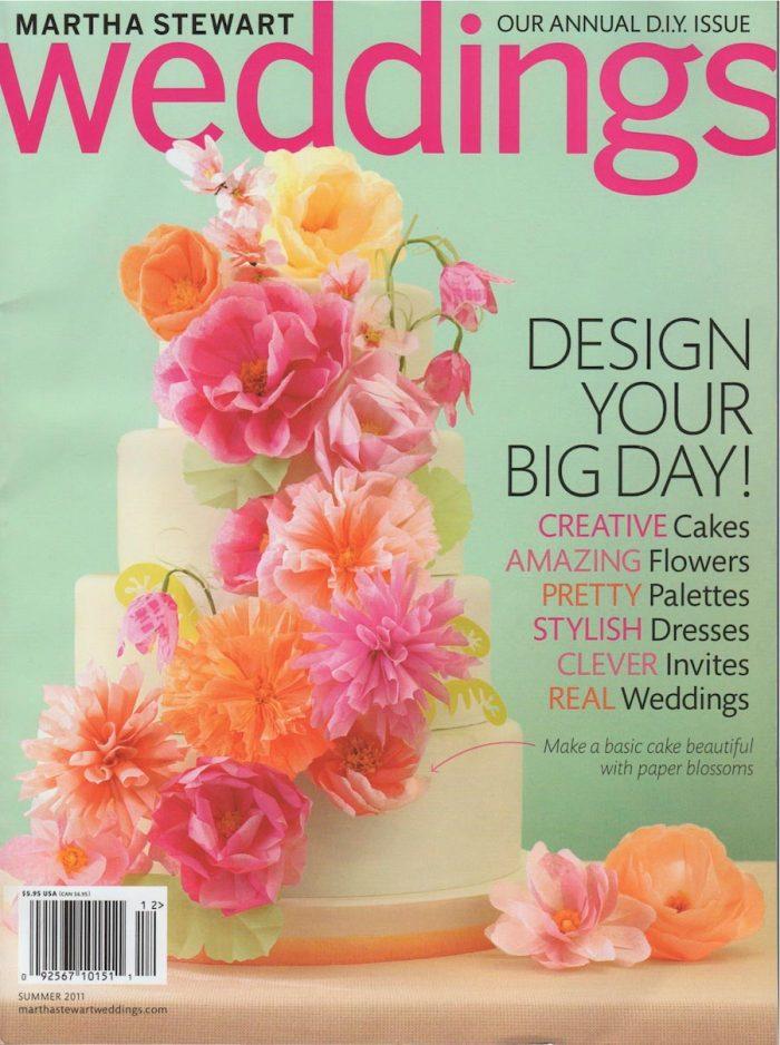 Martha Stewart paper flower wedding cake