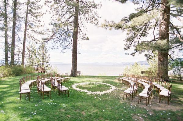 ceremony site overlooking Lake Tahoe