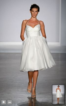 Short Wedding dress form Priscilla of Boston