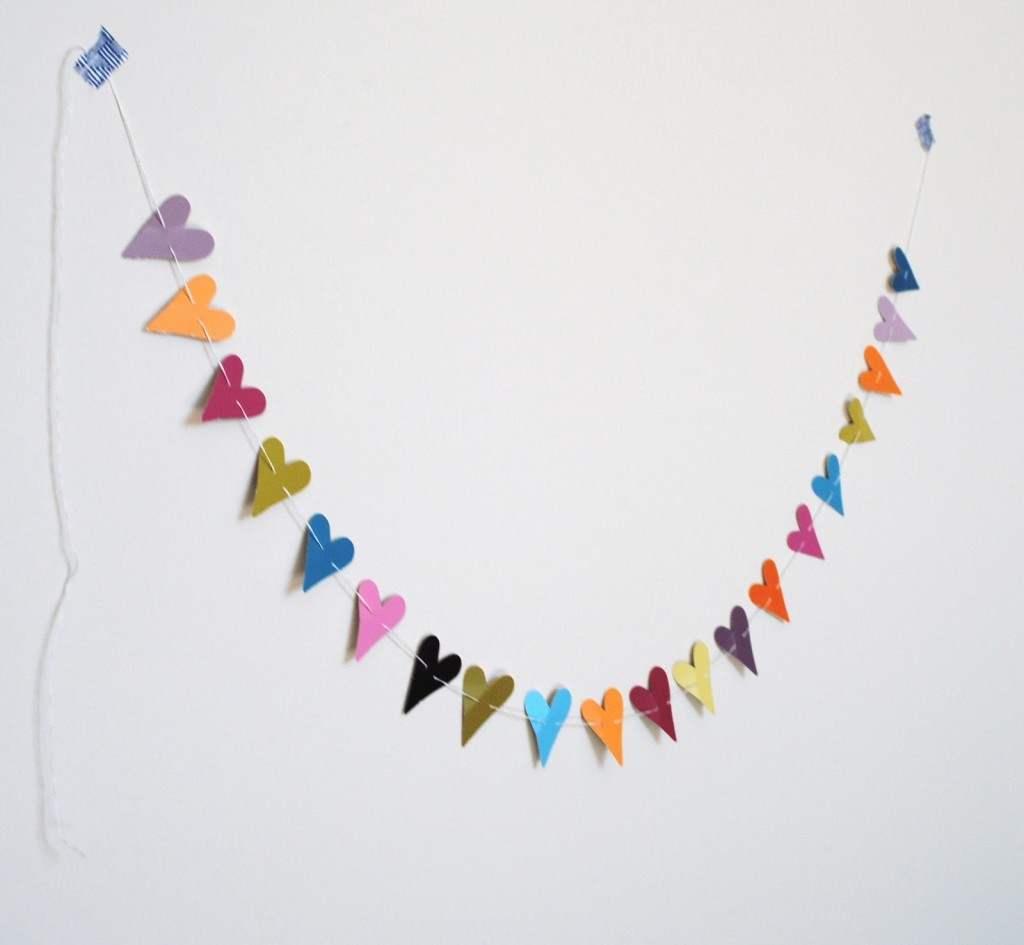 finished heart shaped garland