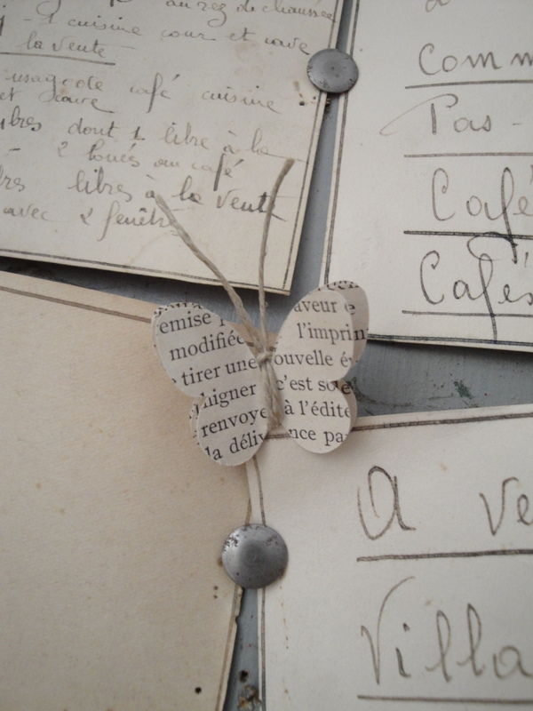 twine wrapped paper butterfly