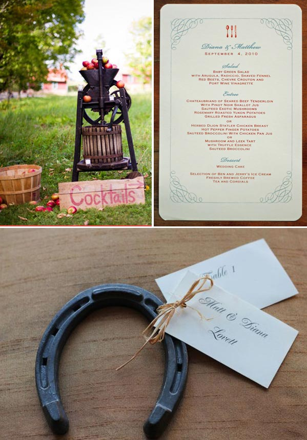 Adirondack Wedding with cidar press