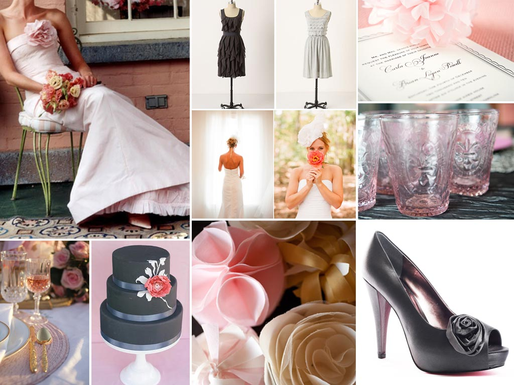 Blush and Gray Wedding Inspiration
