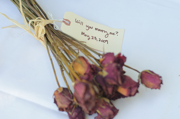 Dried engagement flowers