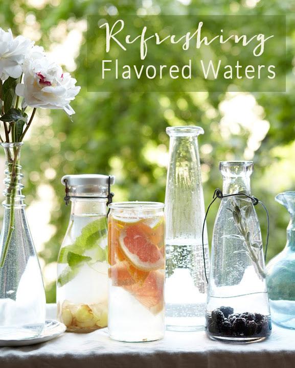 refreshing flavored waters