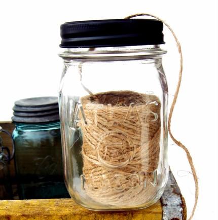 twine in a mason jar
