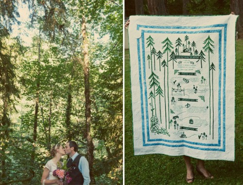 camp wedding quilt