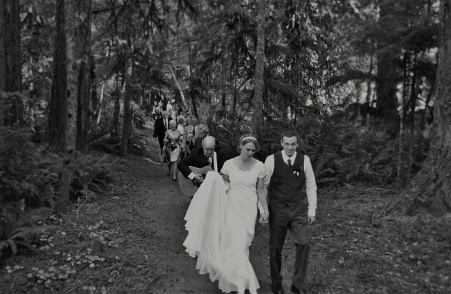 camp wedding recessional