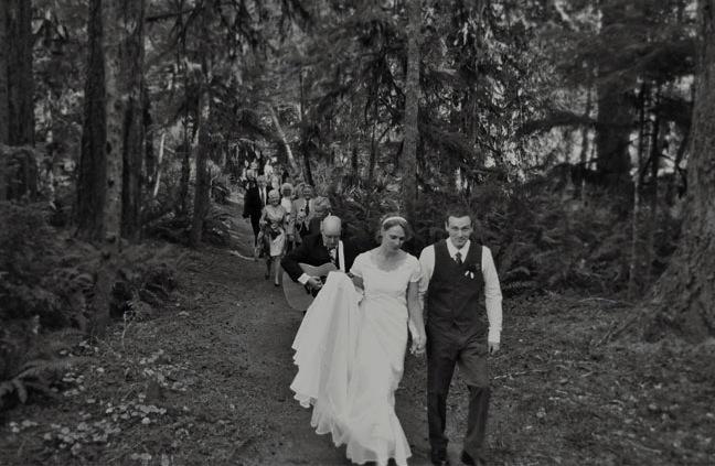 camp wedding recessional
