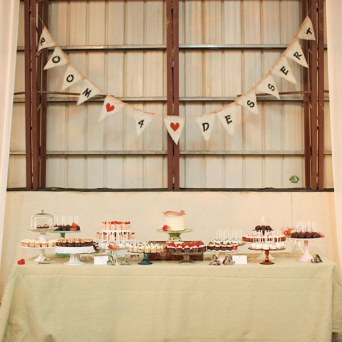 rustic wedding cake buffet table