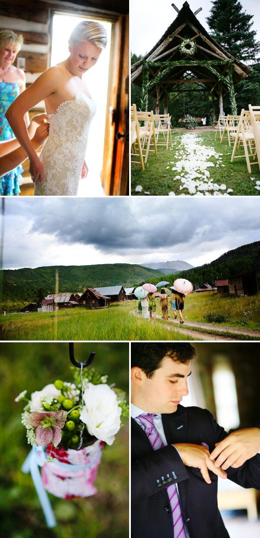 rainy wedding details