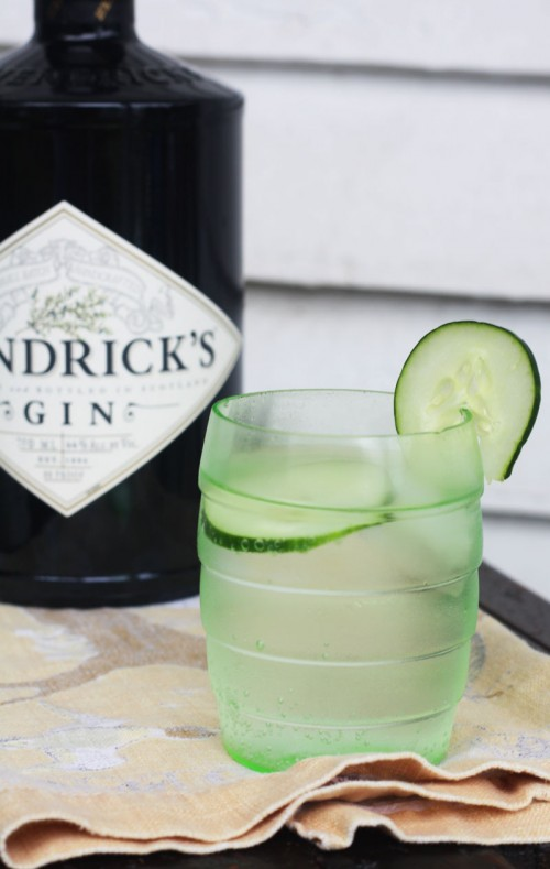Hendrick's Gin and tonic with cucumber