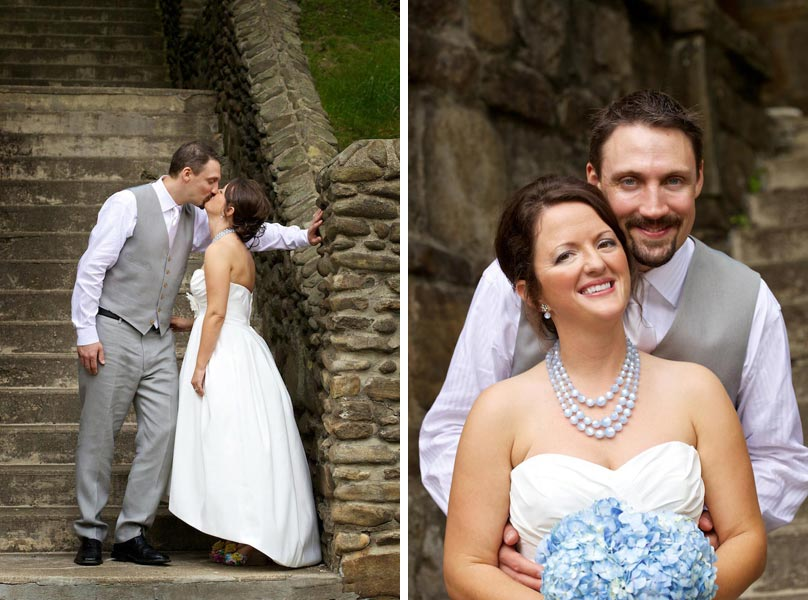 Bride and Groom Portraits at an Asheville Country Wedding