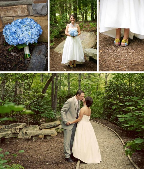Country wedding bridal details