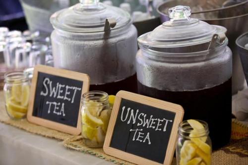 sweet tea chalkboard sign