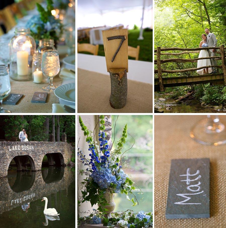 rustic Asheville wedding details
