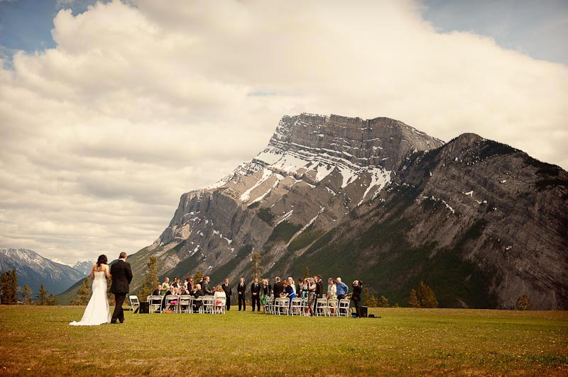 Banff wedding ceremony in the mountains