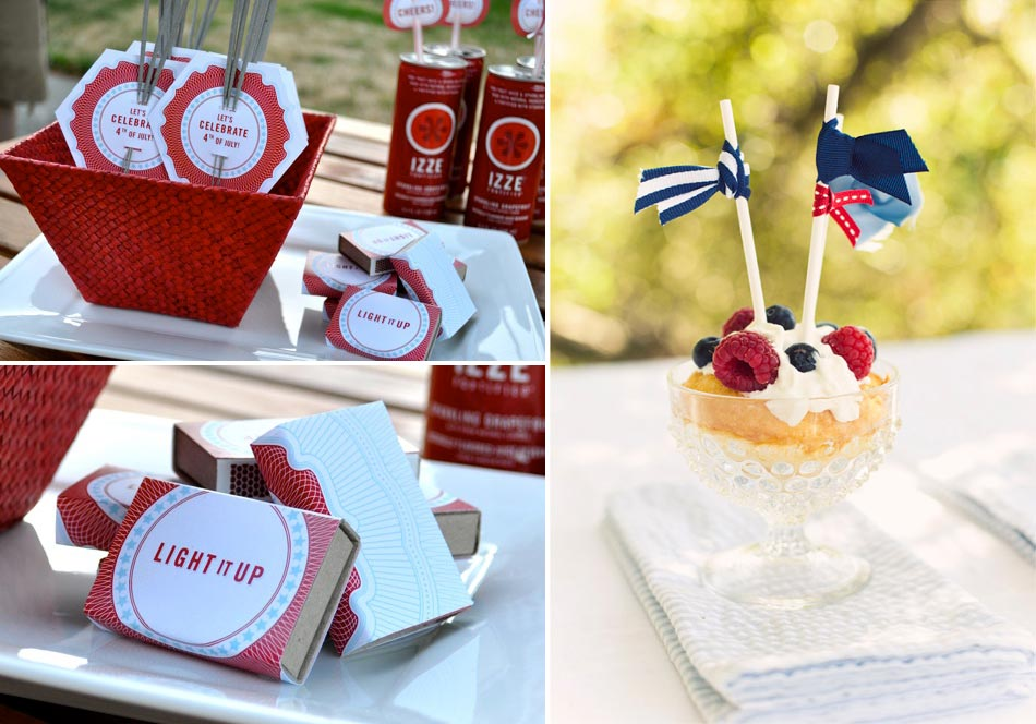 red white and blue ribbon and DIY printables